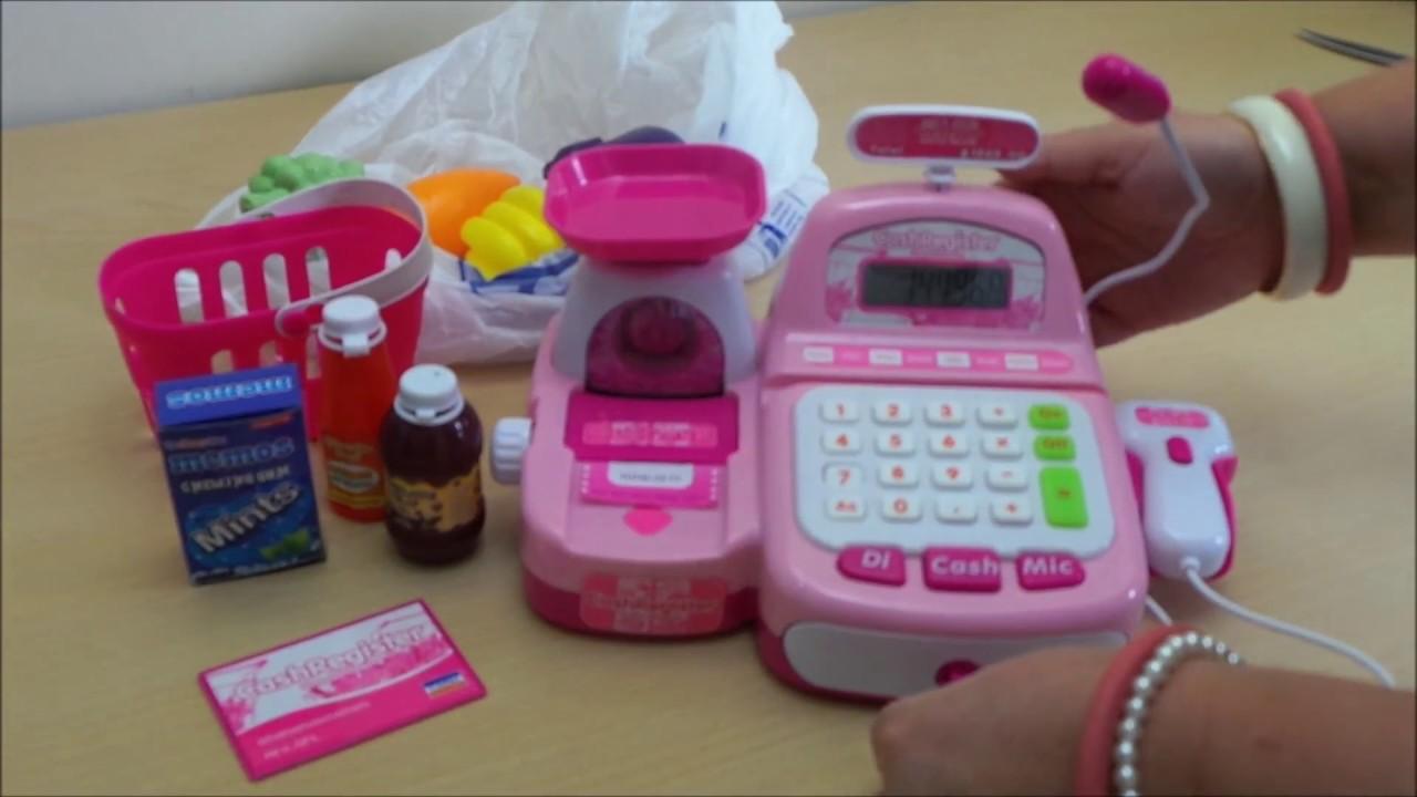 """Best """"Barbie Pink"""" Cash Register Till and working Barcode Scanner"""