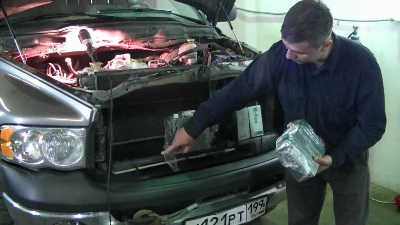 Водородный генератор ННО - Установка на Додж Рэм объем двигателя V5.7 Экономия топлива.