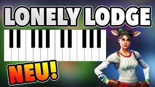 Spiele auf den Klavieren in der Nähe von Pleasant Park und Lonely Lodge die Musik vom Notenblatt
