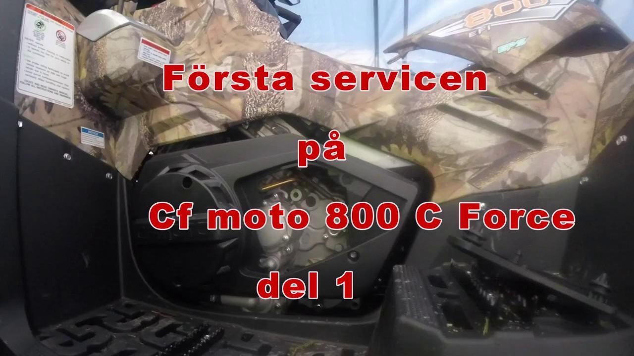 Service film on Cf Moto 800 C Force