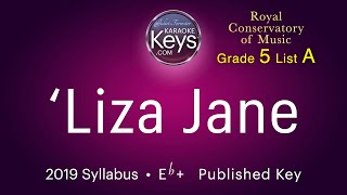 'Liza Jane.  Eb+.  piano by Juliet Forrester.  RCM 2019 Syllabus