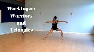 Travelling with warriors and triangles Yoga Dance Choreography