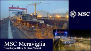 Construction Timelapse MSC Meraviglia | Planet Cruise