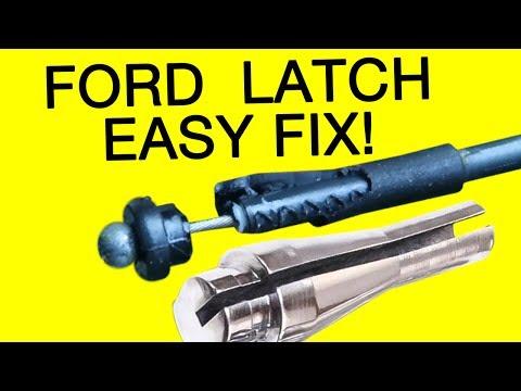 FORD E-150 VAN DOOR LATCH CABLE REPAIR DIY - YouTube
