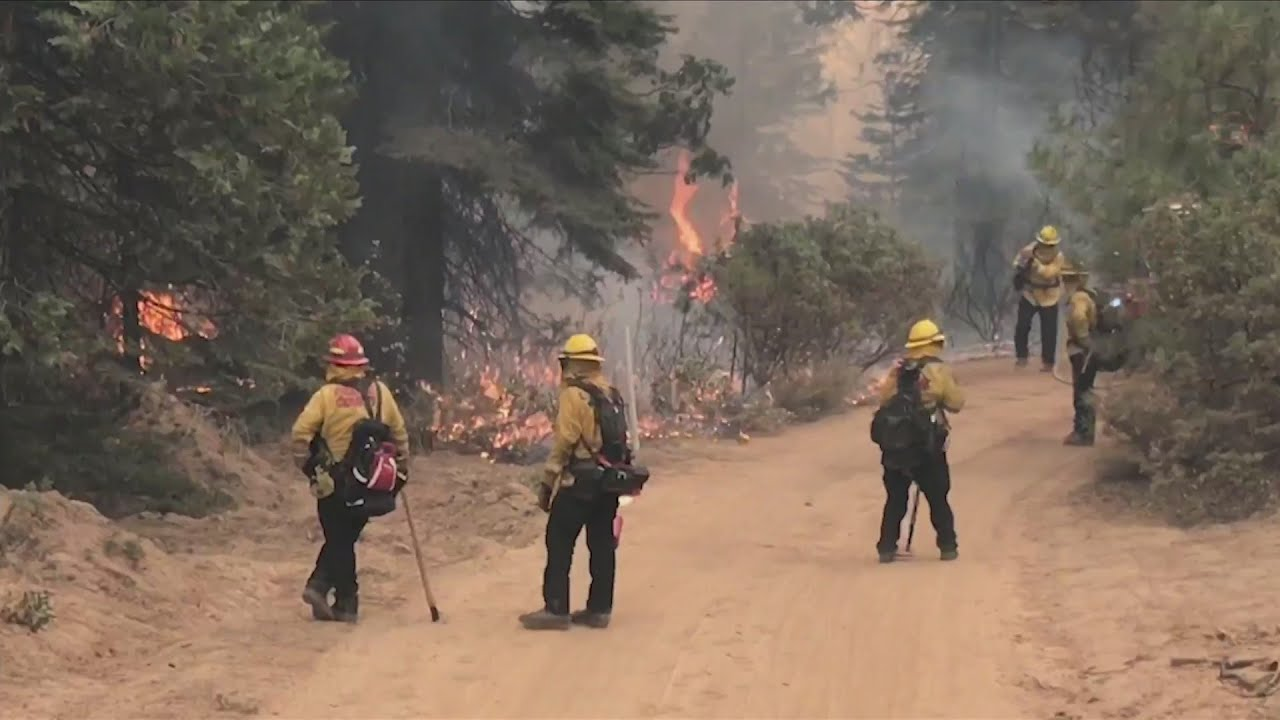 Fire crews working close to 70 hours straight to build fire walls to save homes and cabins in Shaver