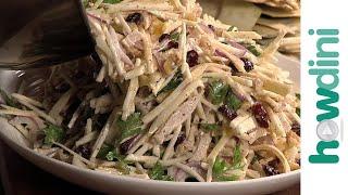 Turkey salad recipe - Simple turkey salad with celery root and apple