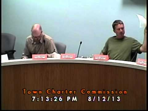 Town Charter Commission 08/12/2013 (Newmarket, New Hampshire)