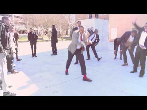 Alpha Phi Alpha, Alpha Rho Chapter - Spring 2014 Yard Step (Led By Deshaun & Devon)
