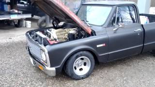 1971 Cummins powered c10 running.