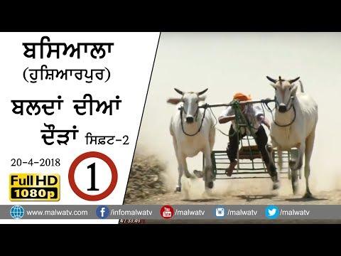 BASIALA (Hoshiarpur) 🔴 OX RACES 2018 | FULL HD |  Part 1 - Shift 2nd