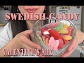 ASMR: Swedish Candy | Valentine's Day Mix | Sockerbit Candy | Scandinavian Sweets | Eating Sounds