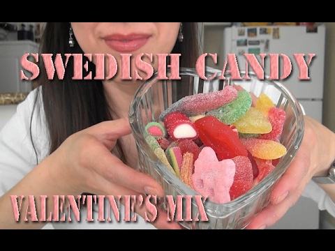 ASMR: Swedish Candy | Valentine's Day Mix | Sockerbit Candy | Scandinavian Sweets | Eating Sounds