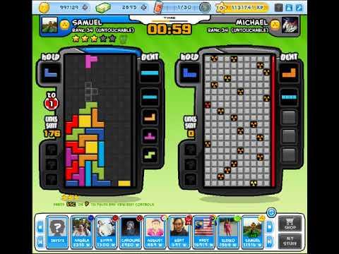 Tetris Battle 2P - 4wide 323 lines with a fatal misdrop T_T
