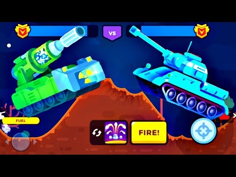 Tank Stars New Update - New Tanks War | ATOMIC Vs T-34 | Game For Kids FHD