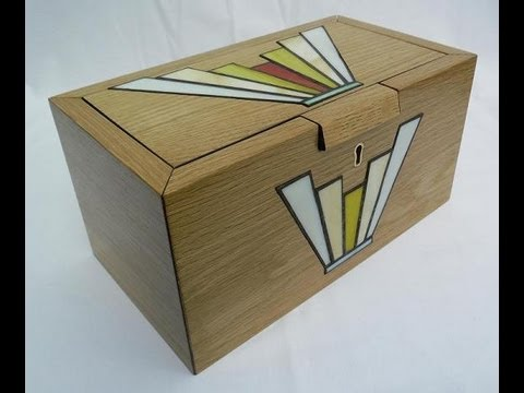 Stained Glass Inlays Into An Oak Jewellery Box Youtube