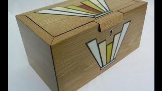 Stained Glass Inlays Into An Oak Jewellery Box