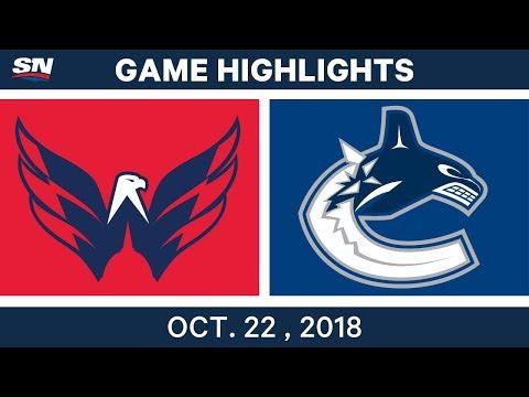 NHL Highlights | Capitals vs. Canucks - Oct. 22, 2018
