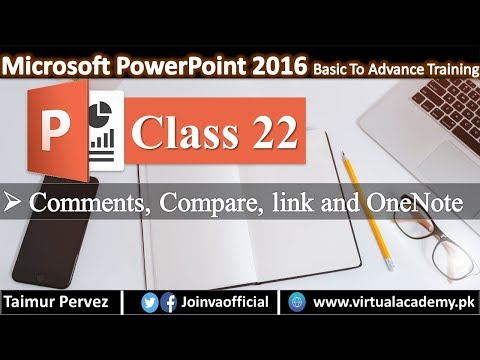 Microsoft PowerPoint | Comments, Compare, Link and OneNote.  22 thumbnail