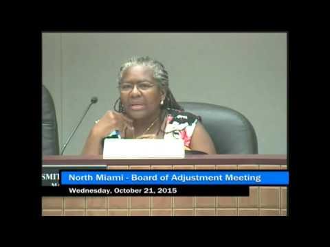 North Miami Board Of Adjustment Meeting - October 21, 2015