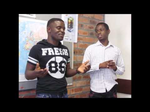 Interview with angolan students at Inlingua, Cape Town