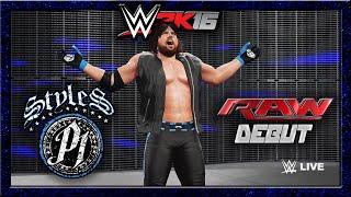WWE 2K16 AJ Styles CAW Formule+Entree & Finisher