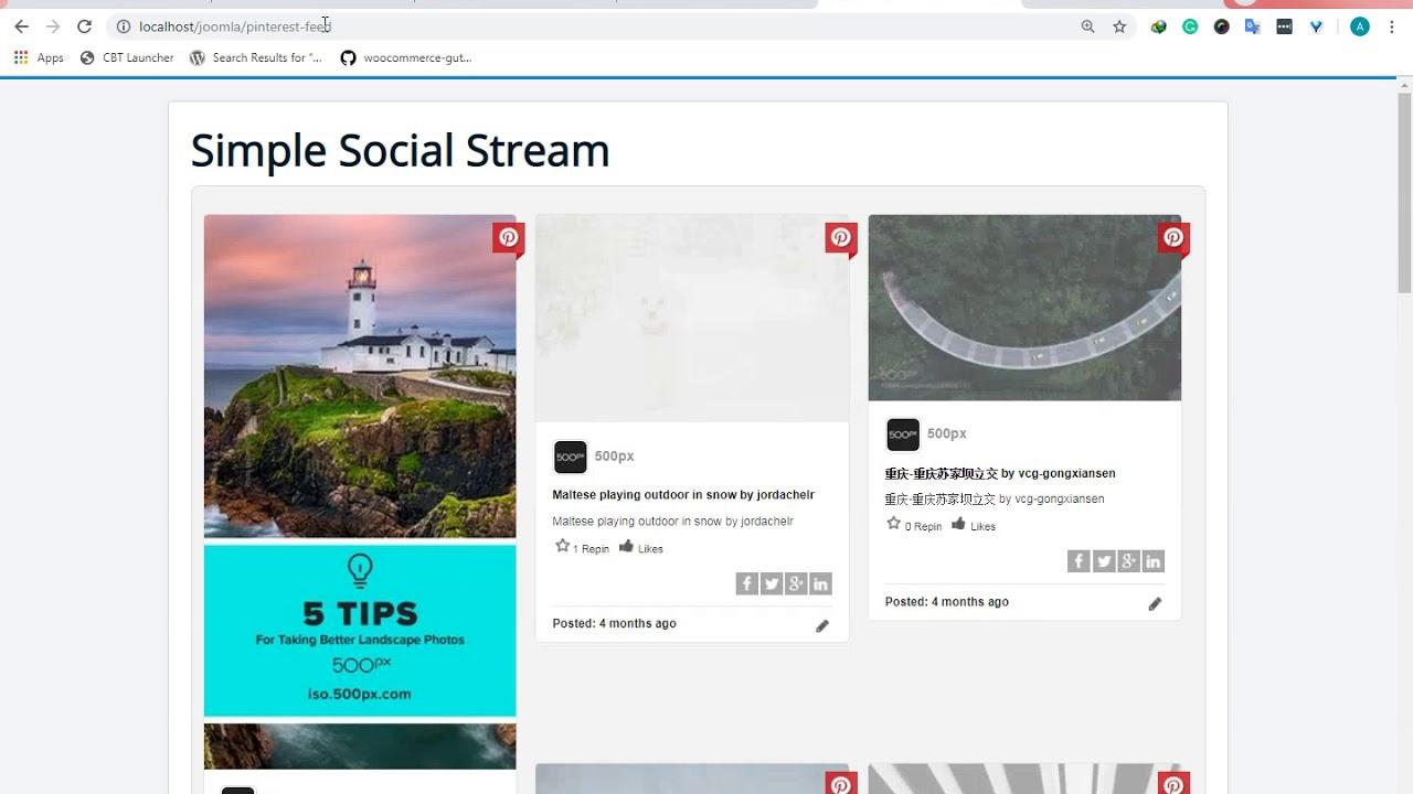 Simple Social Media Stream Joomla Extension - Asana Plugins