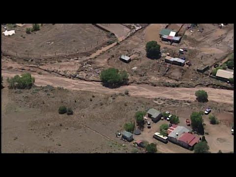 View of Sky 7: Flooding damage in Santa Fe