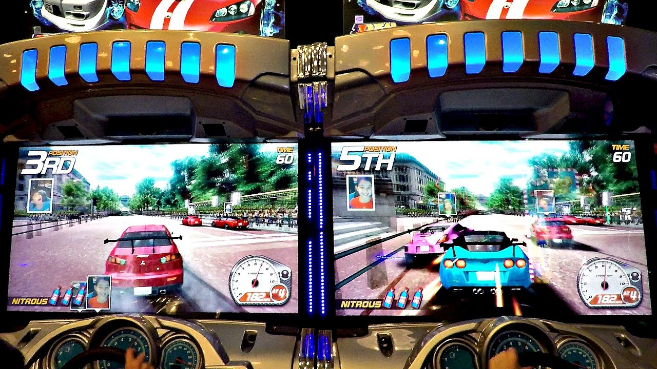 Dead Heat Arcade Video Racing Game E L Versus Rocky And Piper