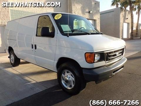 2005 Ford E350 Cargo Van For Sale- 6 0 Turbo Diesel