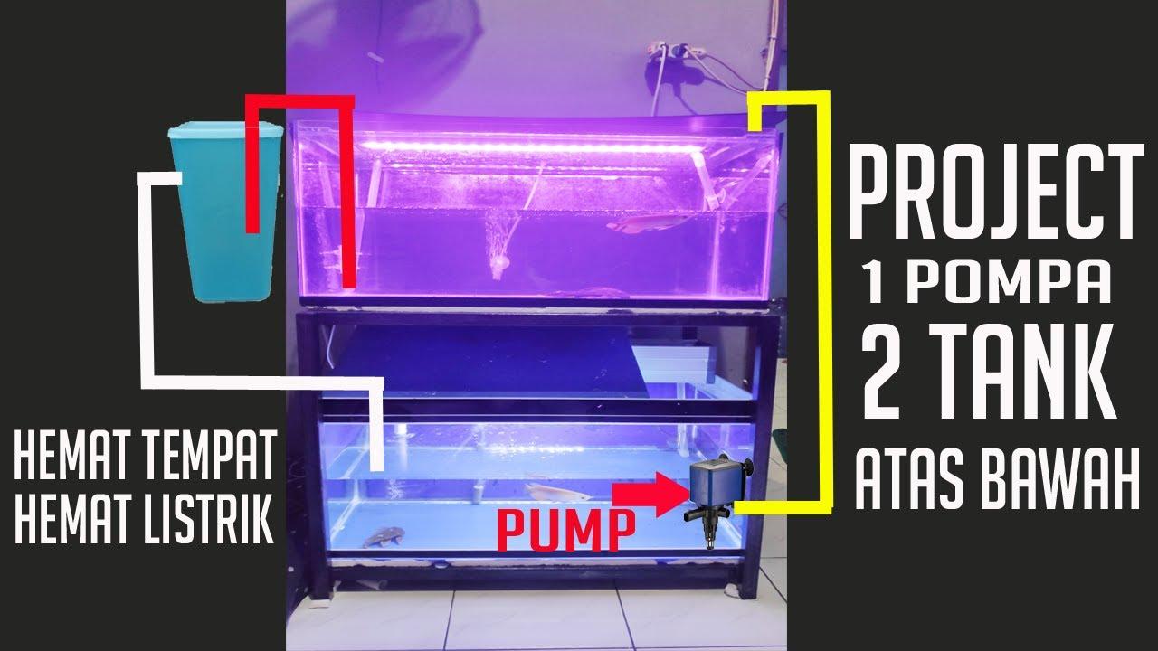 2 Aquarium 1 Pompa Aquarium Atas Bawah Dan 1 Filter Untuk ...