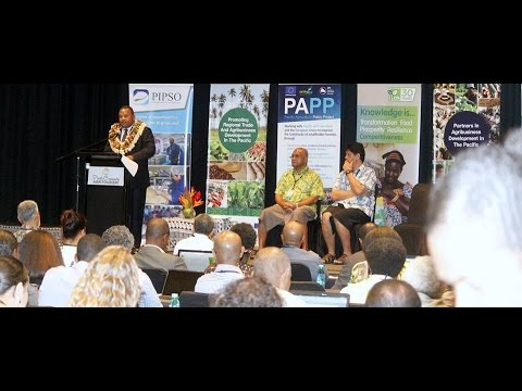 Fijian Minister for Agriculture opens the Pacific Community Agri-Tourism Symposium.