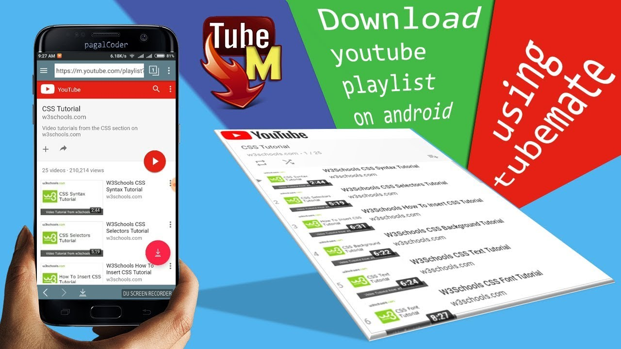 download youtube playlist application