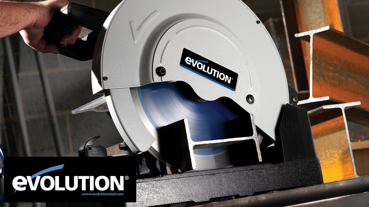 metal cutting saw evolution evosaw355 amp evosaw380 steel cutting chop saw 10719