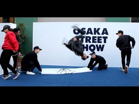 KAKB (Kanta and MIju) breakdance and fashion showcase for Osaka Street Show