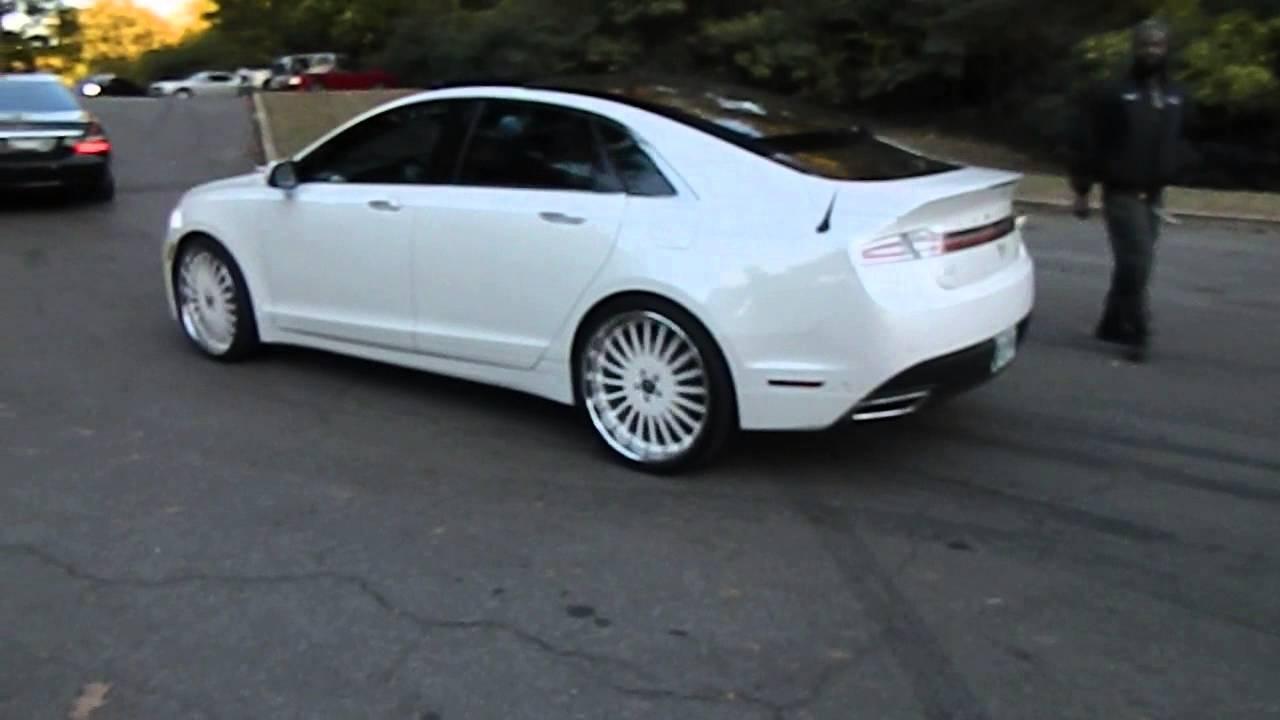 White Lincoln MKZ on Forgiato's at Mlk Park #WhipP - YouTube