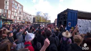 ADM village eviction protest 21-10-2017 - street rave Rage Against the Machine Killing in the Name