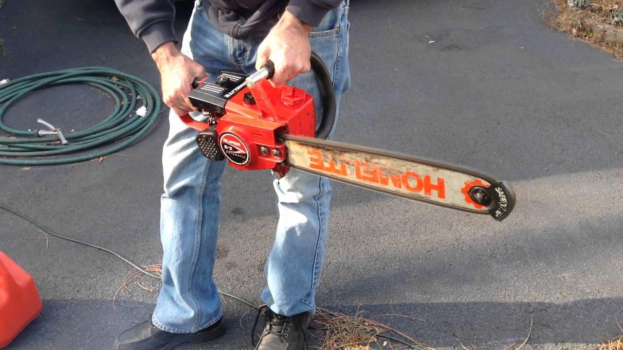 homelite xl textron chainsaw manual