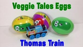 Thomas and Friends Train with Veggie Tales Eggs Surprise