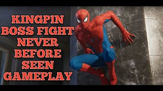 Spider Man PS4 Kingpin Boss Fight Classic Suit New Combat NEVER BEFORE SEEN GAMEPLAY PS4 Pro