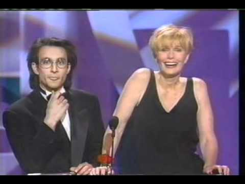 Bronson Pinchot and Sally Kellerman on 1990 People's Choice Awards