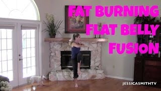 Fat Burning Flat Belly Fusion Workout - Full Length Workout Video for Abs, Stomach, Belly Pooch