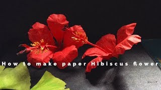 How to make paper HIBISCUS FLOWERS | DIY HIBISCUS FLOWERS | CREATING CRAFTING