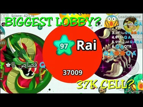 37K IN SINGLE CELL!!! BIGGEST AGARIO LOBBY? TRICK ON 22K ? REKTING FRIEND'S PARTY! AGARIO MOBILE!