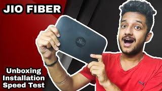 Jio GigaFiber : Hands-on experience | Unboxing, installation & Speed Test | Jio promise?