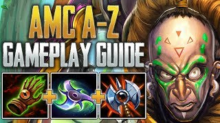 Ah Muzen Cab Gameplay Guide   18 Second Ult CD! - SMITE Conquest A-Z