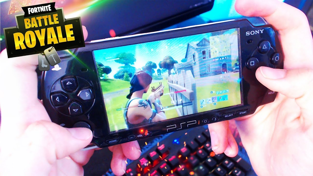 jugando al fortnite en mi psp gameplay psp - fortnite on psp