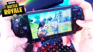 Jugando al Fortnite En mi PSP! Gameplay PSP
