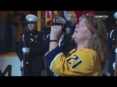 WPG@NSH, Gm7: Cathy Mullins sings 'O Canada'
