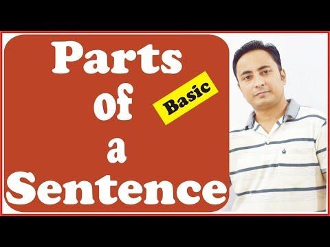 वाक्य के भाग (Parts of a Sentence) | English Grammar | SUBJECT, VERB, OBJECT | BASIC LEVEL VIDEO