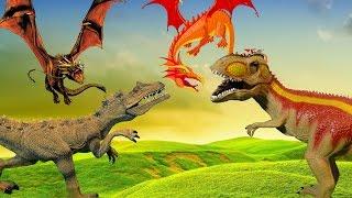 СПИНОЗАВР и ДРАКОНЫ против Страны ДИНОЗАВРОВ. 2 серия. Мультики про динозавров и драконов
